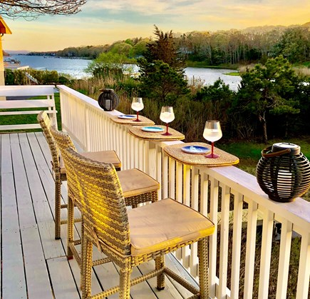 Falmouth Cape Cod vacation rental - Waterfront dining at home