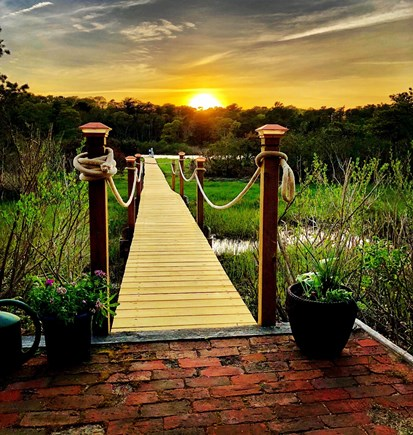 Falmouth Cape Cod vacation rental - Boardwalk to water