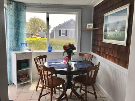 West Dennis Cape Cod vacation rental - Breakfast nook, off kitchen, sliders to deck.