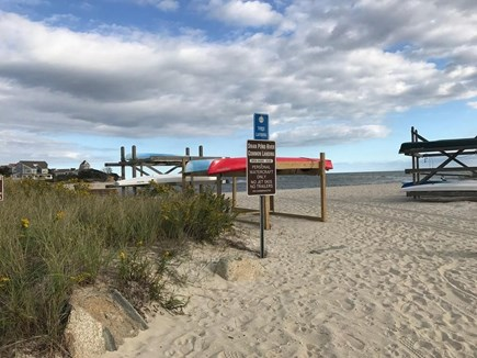 West Dennis Cape Cod vacation rental - Private beach area and location of kayaks