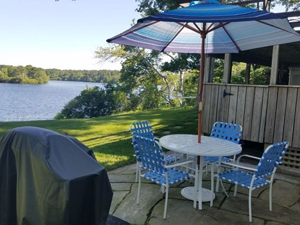Centerville Centerville vacation rental - Outdoor patio dining area, grill, and large outdoor shower!