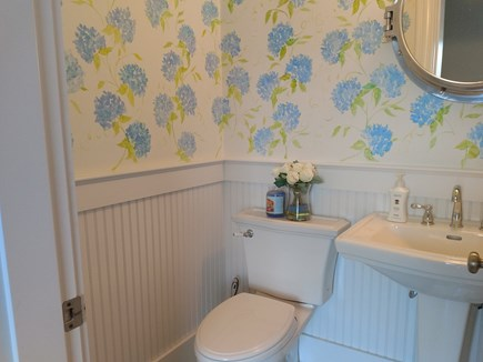 Falmouth Heights Cape Cod vacation rental - Powder room first floor