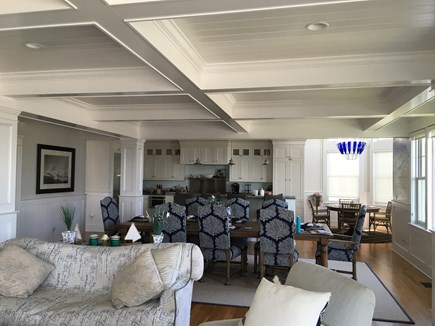 Falmouth Heights Cape Cod vacation rental - Family Room open to Kitchen with Island and Bar Stools