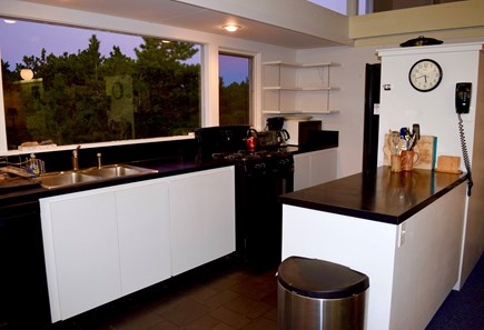 Wellfleet Cape Cod vacation rental - Open kitchen with views of bay and yard