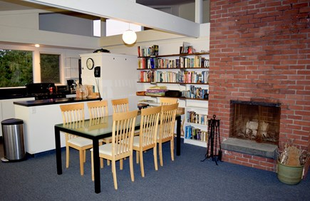 Wellfleet Cape Cod vacation rental - Dining room and working fireplace