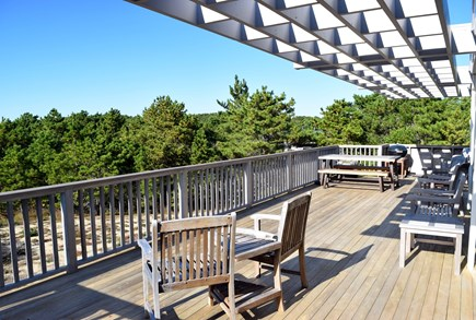 Wellfleet Cape Cod vacation rental - Renovated and expanded deck (with charcoal grill)