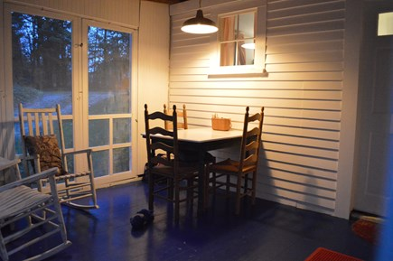 East Orleans Cape Cod vacation rental - Enjoy dinner, drinks, or a card game on the screened porch.