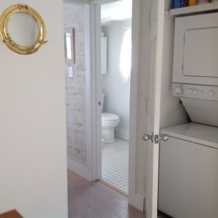 East Orleans Cape Cod vacation rental - Painted and natural shiplap makes up one wall of every room.