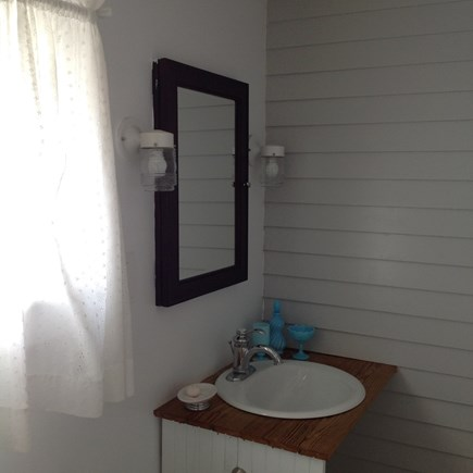 East Orleans Cape Cod vacation rental - Interior walls feature clapboards of original 1-room cottage.