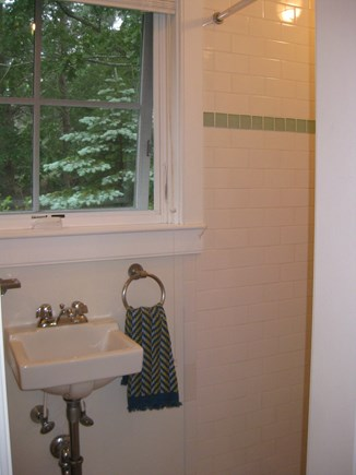 Truro Center Cape Cod vacation rental - Full bath with Tile Shower