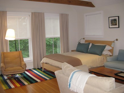 Truro Center Cape Cod vacation rental - Open studio living  with high beamed ceiling