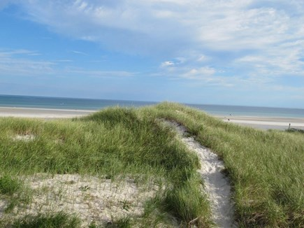 Dennis Cape Cod vacation rental - Just steps from our deck- path to private beach.