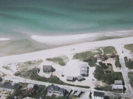 Dennis Cape Cod vacation rental - Aerial shot-with crystal clear waters and private path to beach.