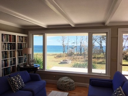 Eastham Cape Cod vacation rental - Living area with ocean views