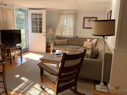 Brewster Cape Cod vacation rental - Living Room / main entry from deck