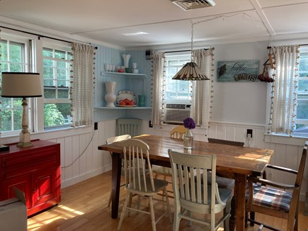 Brewster Cape Cod vacation rental - Dining room adjacent to living room and kitchen