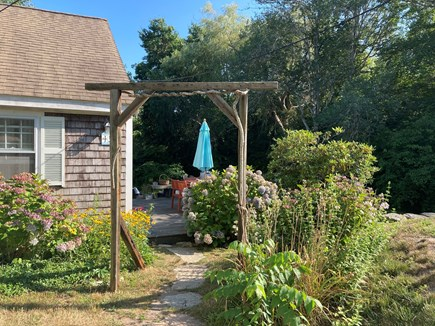 Brewster Cape Cod vacation rental - Outdoor front entrance to deck and yard.