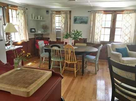 Brewster Cape Cod vacation rental - Dining area next to kitchen opens to living room to the right