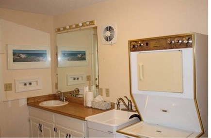 South Chatham Cape Cod vacation rental - Bathroom with washer and dryer