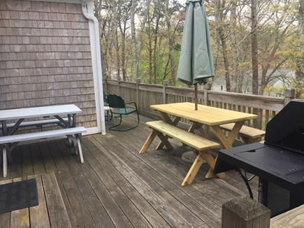 Harwich Cape Cod vacation rental - We've added another, larger picnic table!