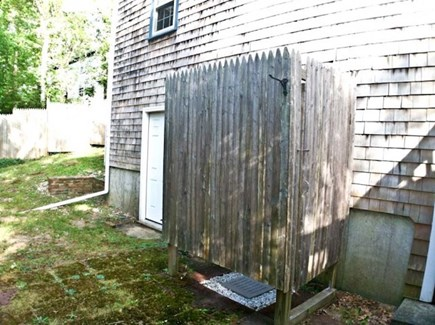 Harwich Cape Cod vacation rental - It wouldn't be the Cape without an outdoor shower!