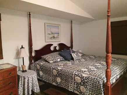 Harwich Cape Cod vacation rental - King bedroom upstairs (AC unit and ceiling fan)