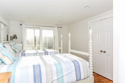 Truro Cape Cod vacation rental - One of the lower level bedrooms (with 2 twin beds)