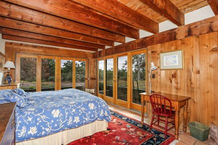 TRURO Cape Cod vacation rental - Bedroom with King Bed and Views of Valley