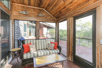 TRURO Cape Cod vacation rental - Screen Porch with Casual Furniture