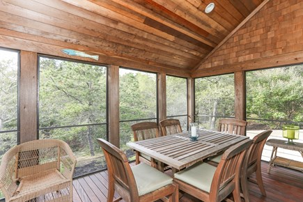 TRURO Cape Cod vacation rental - Screen Porch with Dining