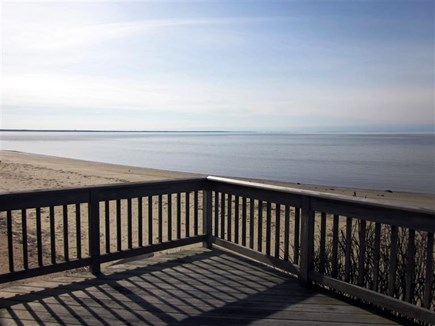 Eastham Cape Cod vacation rental - Back deck with amazing views of the private beach & the Bay!