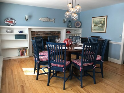Brewster Cape Cod vacation rental - Dining Room; table seats 8; folding table and chairs also avail.