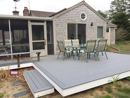 Harwich Port Cape Cod vacation rental - Back Deck accessed from screened porch & dining area