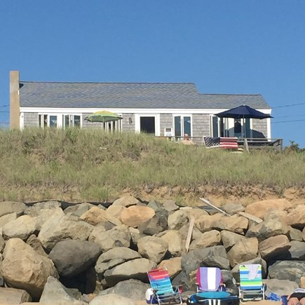 Eastham Cape Cod vacation rental - On the beach looking up at cottage