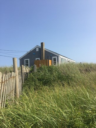 Eastham Cape Cod vacation rental - Walking up beach stairs