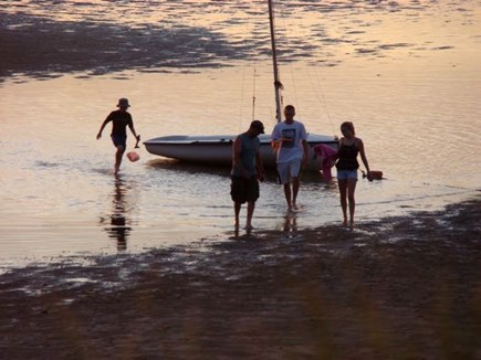 Eastham Cape Cod vacation rental - Spending time together exploring the mudflats