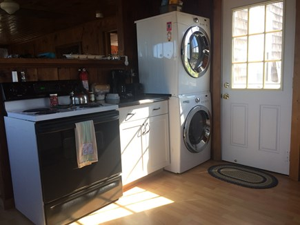 Eastham Cape Cod vacation rental - Washer/Dryer & back door to rear deck
