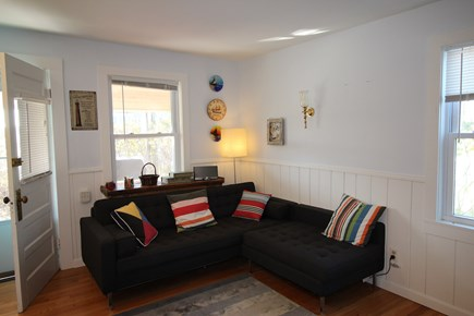 Truro Cape Cod vacation rental - Living Room with small dining table for 2