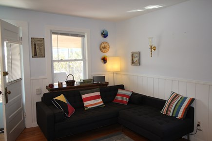 Truro Cape Cod vacation rental - The living room has air conditioning which cools the entire unit