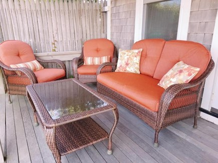 Truro Cape Cod vacation rental - Covered front porch with gas grille