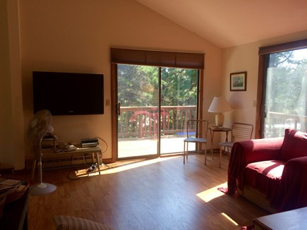 Truro Cape Cod vacation rental - Living room to outside wrap around deck