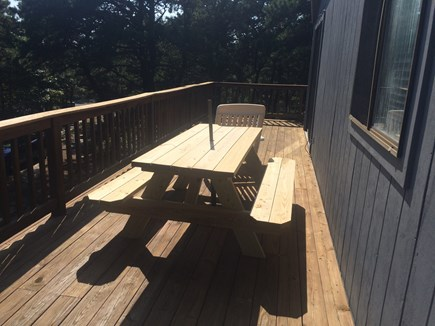 Truro Cape Cod vacation rental - Wrap around deck with picnic table