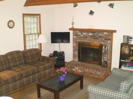 Wellfleet Cape Cod vacation rental - Great Room: Living Room is open to Kitchen & Dining area