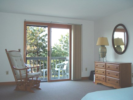 Wellfleet Cape Cod vacation rental - Master Bedroom view of balcony