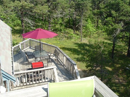 Wellfleet Cape Cod vacation rental - Lower deck viewed from 2nd floor balcony