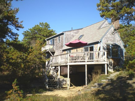 Wellfleet Cape Cod vacation rental - Back of house w/ deck & balcony