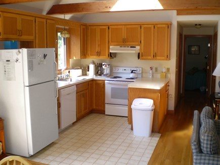 Wellfleet Cape Cod vacation rental - Kitchen w/ skylight embraces open floor plan of Great Room