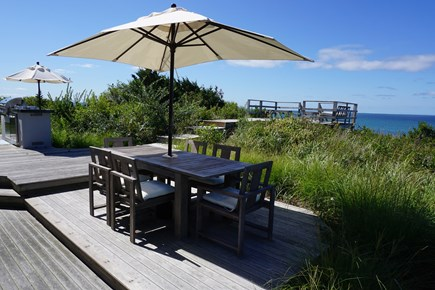 Truro Cape Cod vacation rental - Outdoor dining area.
