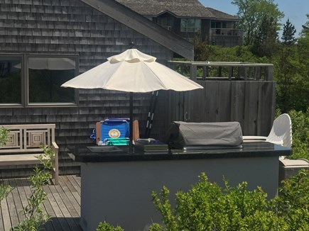 Truro Cape Cod vacation rental - Outdoor living with grill & refrigerator!
