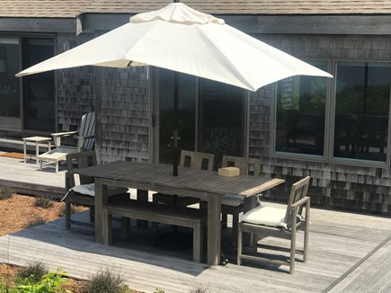 Truro Cape Cod vacation rental - Outdoor dining with a view!